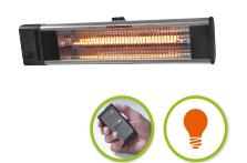 TH 1800R Capaciteit: 1800 Watt Max. Bereik: 14 m² Type lamp: Carbon Montage: wand/plafond Waterdichtheid: IP24 (spatwaterdicht) Kosten per uur (circa): € 0,41